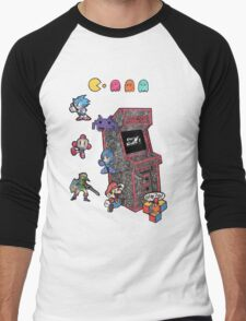 Arcade Game Booth /without background Men's Baseball ¾ T-Shirt