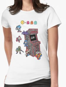 Arcade Game Booth /without background Womens Fitted T-Shirt