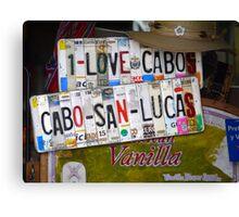 I Love Cabo Canvas Print