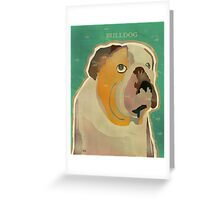 the bulldog  Greeting Card