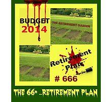 the retirement garden Photographic Print
