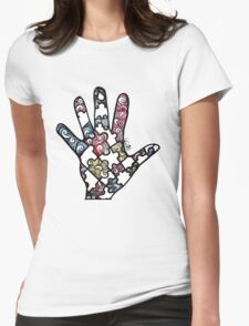 Puzzle Hand Womens Fitted T-Shirt