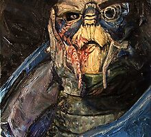 Garrus Vakarian Oil Painting by Sean Donaldson