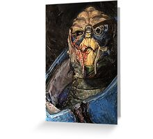 Garrus Vakarian Oil Painting Greeting Card