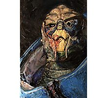Garrus Vakarian Oil Painting Photographic Print