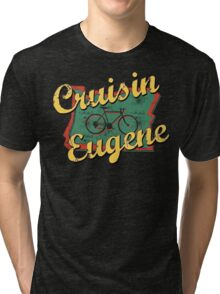 Bike Cycling Bicycle Eugene Oregon Tri-blend T-Shirt