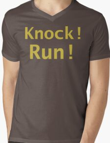 Knock A Door Run Mens V-Neck T-Shirt