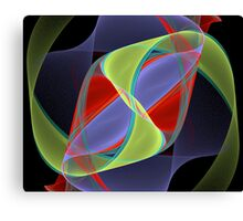 Ribbons Swirling Canvas Print