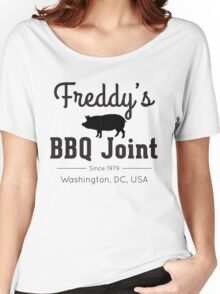 Freddy's BBQ Joint (black) Women's Relaxed Fit T-Shirt