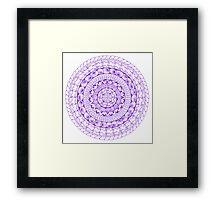 Purple Mandala Framed Print