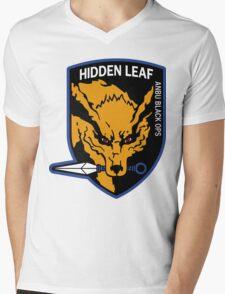 Nine-Tailed Fox Hound Mens V-Neck T-Shirt