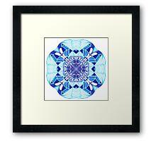 Water Mandala Framed Print