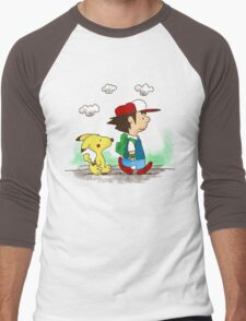Pokemon Peanuts Men's Baseball ¾ T-Shirt