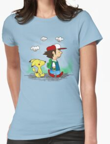 Pokemon Peanuts Womens Fitted T-Shirt