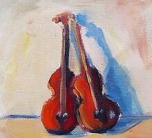Twin Violins by brandycattoor