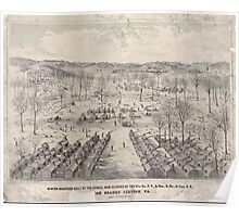 Civil War Maps 1924 Winter quarters built by the rebels now occupied by the 67th reg PV 3d Brig 3d Div 3d Corps AP near Brandy Station Va Poster