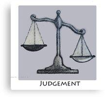 Judgement- The Plan of Salvation Canvas Print