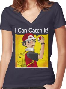Red the trainer Women's Fitted V-Neck T-Shirt