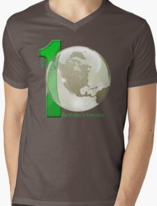 Only 1 Earth - Earth Day, Everyday Mens V-Neck T-Shirt
