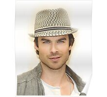 handsome Ian Somerhalder Hat Poster