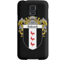 Babcock Coat of Arms/Family Crest Samsung Galaxy Case/Skin