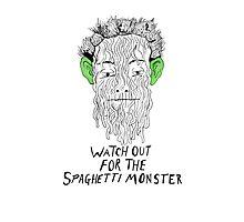 True Detective - Spaghetti Monster Photographic Print
