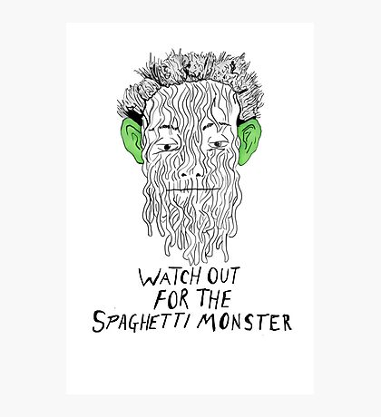 True Detective - Spaghetti Monster Photographic Print