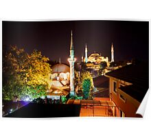 Night Mosque Poster