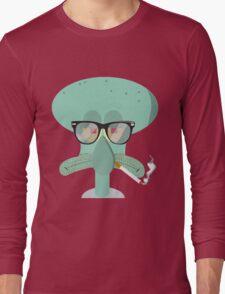 Hipster Squidward Long Sleeve T-Shirt