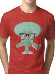 Hipster Squidward Tri-blend T-Shirt