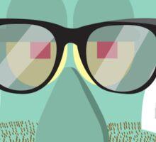 Hipster Squidward Sticker