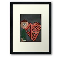 knitted heart Framed Print