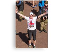 Katherine Grainger at the London Marathon Canvas Print