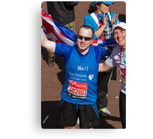 Neil Hill & Katherine Grainger after the London Marathon Canvas Print