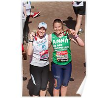 Katherine Grainger and Anna Watkins at the London Marathon Poster