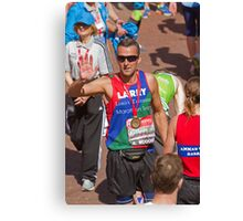 Paul Grayson with his London Marathon medal Canvas Print