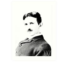 Tesla [B&W] | The Wighte Collection Art Print
