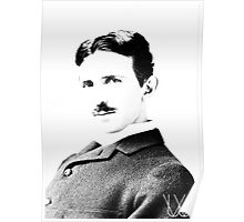 Tesla [B&W] | The Wighte Collection Poster
