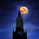 Blood Moon Over Kremlin by Alex Preiss