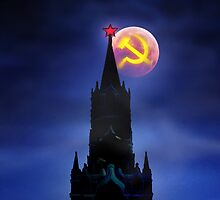 Blood Moon Over Kremlin by Alex Preiss