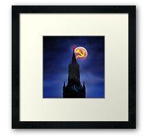 Blood Moon Over Kremlin Framed Print