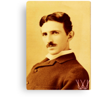 Tesla [B&W] | The Wighte Collection Canvas Print