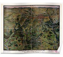 Civil War Maps 1276 Perspective view of Gettysburg National Military Park Poster