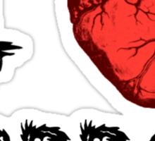 I Heart Horror Sticker