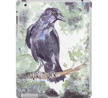 Crow wears a band of Silver iPad Case/Skin