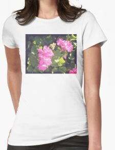 Vintage Flower Blossoms Womens Fitted T-Shirt