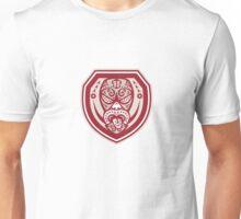 Maori Mask Tongue Out Shield Retro Unisex T-Shirt