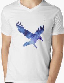 Raven with Itachis Mangekyou Sharingan Mens V-Neck T-Shirt