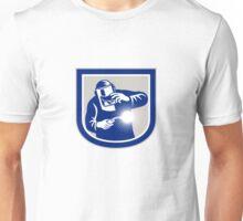 Welder Welding Torch Front Shield Retro  Unisex T-Shirt