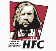 The hound KFC logo chicken parody. HFC by Cessull